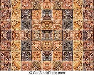 Fudge tiles - Background composite of clay wall tiles