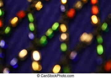 Multicolored Blur - dark blue background with multicolored...