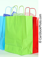 Shopping bags - Three colorful shopping bags