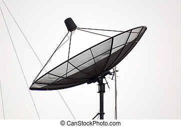 satellite dish - Large rooftop satellite dish