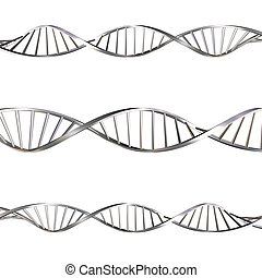 DNA strands on white background