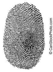 Finger Print - mark of finger