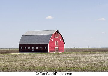 Red Barn - A red barn in a field.