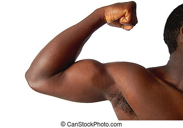 So Strong - This is an image of a person, contracting his...