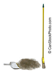Sweeping - a broom and dustpan