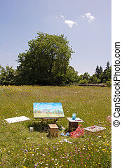 Paint images - Painting in green field - this paint is my...