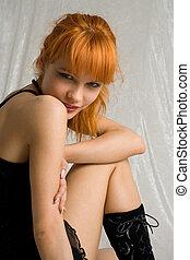 flirt - pretty redhead smiling
