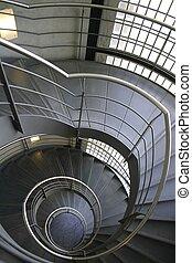Espiral, Escaleras