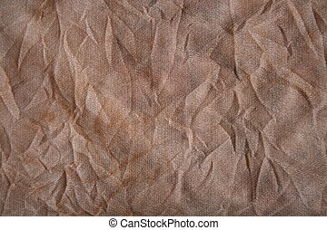 Wrinkled Fabric - Detail of grungy wrinkled fabric with a...