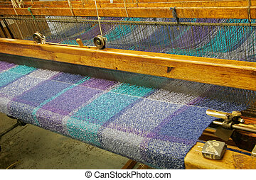 Woven fabrics being manufactured in Ireland