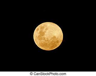 amarillo, luna