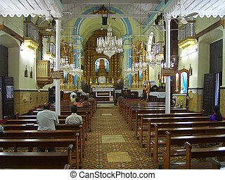 Indoor Catholic Church, in India, st. Goa