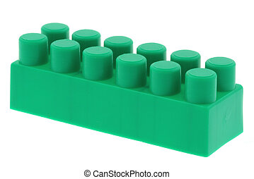 green building block