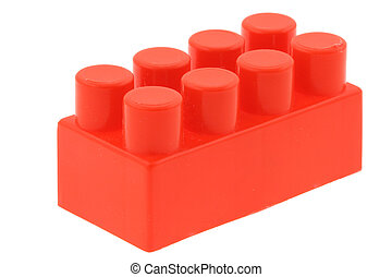 red building block - no trademarks