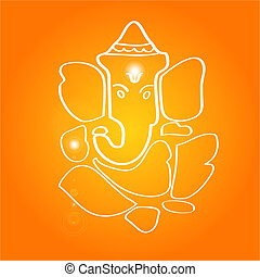 Sri Ganesha - The hindu deity Hand drawn
