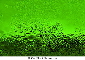 waterdrops on green glass
