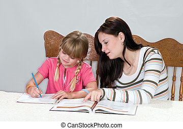 Tutoring2 - Big sister helping with homework