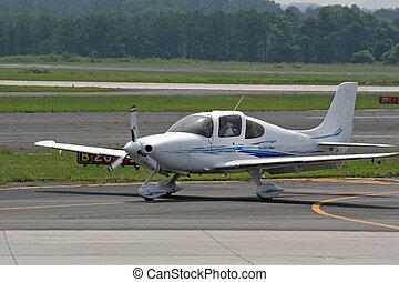 Small Plane Landing 1 - Small plane landing on runway