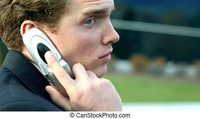 Business man with cell phone 4