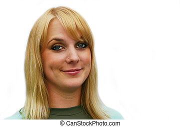 Quirky Blond - Headshot of quirky blond