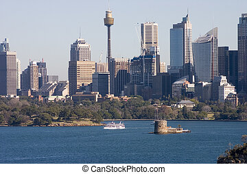 Sydney Skyline - Sydney skyline, NSW, Australia, with Fort...