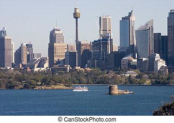Sydney Skyline - Sydney skyline, NSW, Australia, with Fort...