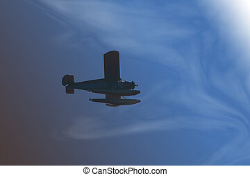 Into the Clouds - Alaskan seaplane flies into the clouds