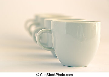 Cups background - Line of cups background