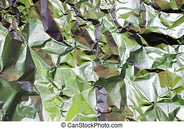 Wrinkled foil - Wrinkled aluminium foil