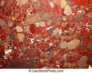 Red marble texture closeup