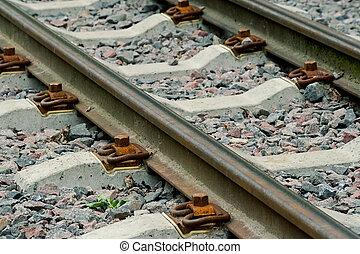 Railroad tracks - Detail of a railroad tracks