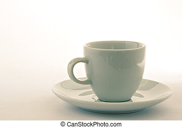 Empty cup with saucer