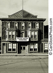 Old theater building - Wooden building circa 1900, Dawson...