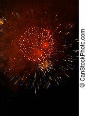 Fireworks fill the sky in celebration