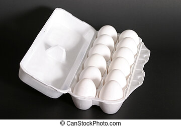 Carton Of Eggs 1 - Carton of twelve large grade AA eggs.