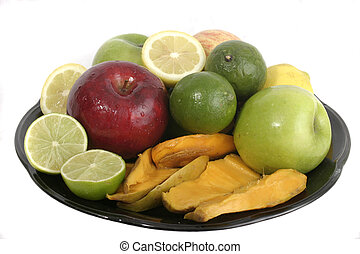 Plate of Fruit 1 - Large selection of colorful fruit...