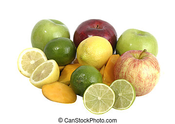 Group of Fruit 1 - Large selection of colorful fruit...