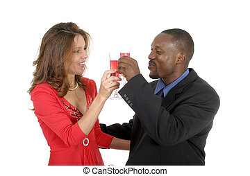 Romantic Couple Celebrating 2