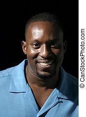 Handsome Casual Male Portrait 4 - Low key portrait headshot...