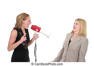 Agitated Two Business Women Team 3 - Extreme two person...