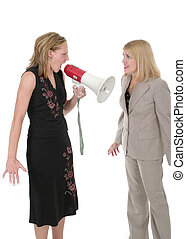 Agitated Two Business Women Team 4 - Extreme two person...
