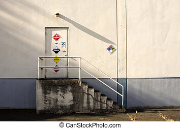 Stock Photo of a Door Leadin into a Factory - Photo of a...