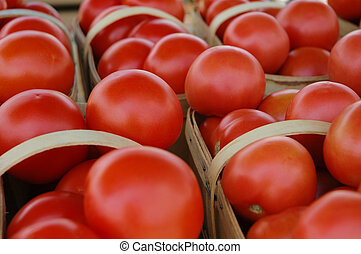 Red Tomatoes - Baskets with tons of red tomatoes