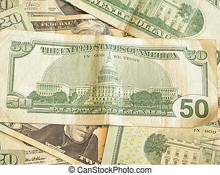Fifty Dollar Bill - the back of an American Fifty Dollar...