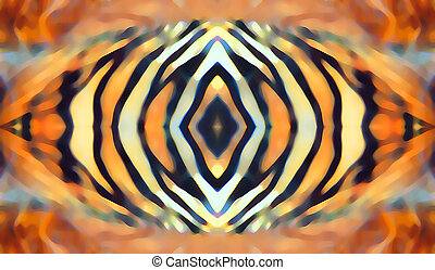Eye of the tiger - Abstract design of tiger stripes