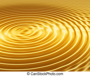 golden ripple abstract