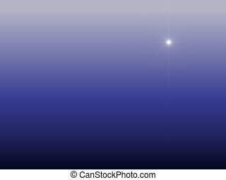 Star over Bethlehem as background in different blue night...