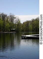 Serene Lake - A campground lake and dock