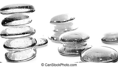 Lot of Gray Pills - Towers. Macro & Isolated on whiteLot of Gray Pills - Towers. Macro & Isolated on white