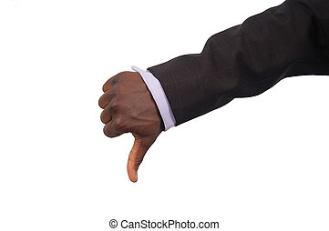 Bad Business - This is an image of a thumbs down. This is a...